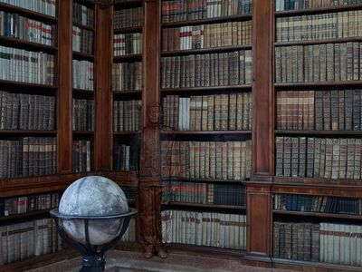 Liu Bolin, 'Hiding in Italy - Public Library', 2014