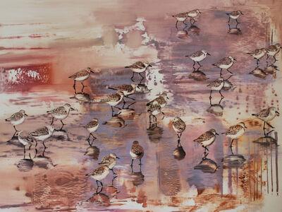 Kay Bradner, 'Snowy Plovers', 2016