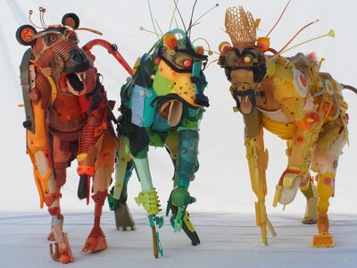 Gilles Cenazandotti, 'Baboons', 2017