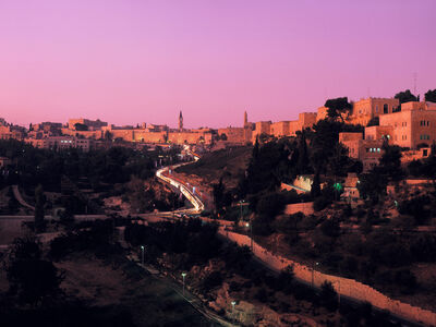 Neil Folberg, 'Old City at dusk, Jerusalem', 1985