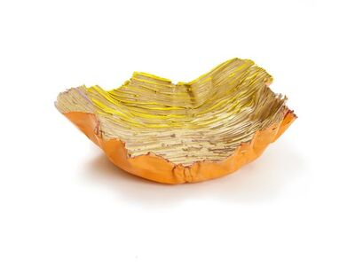 Ghada Amer, 'Orange Peel Plate', 2015