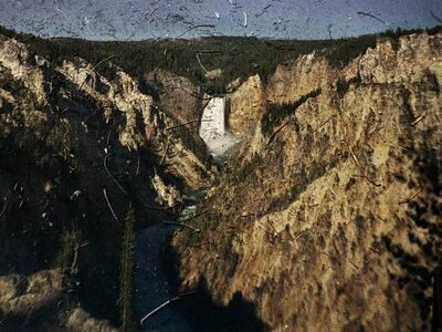 Abelardo Morell, 'Tent Camera Image On Ground: View Of The Grand Canyon And Lower Falls, Yellowstone National Park, Wyoming', 2011