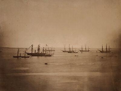 Gustave Le Gray, 'Flotte Franco-Anglais en Rade de Cherbourg', 1858/1858