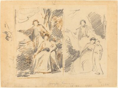 George Romney, 'Two Studies for a Family Portrait'