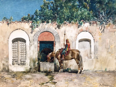 Alberto Pasini, 'Horseman at a Fountain', 1846-1899
