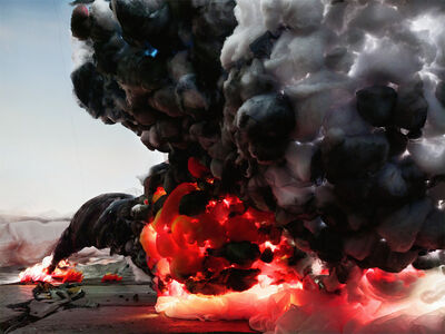 Shirley Wegner, ' Explosion with Road', 2012