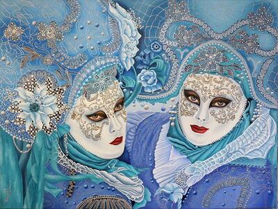 Ilse Heffler, 'Venezianische Masken', 2018