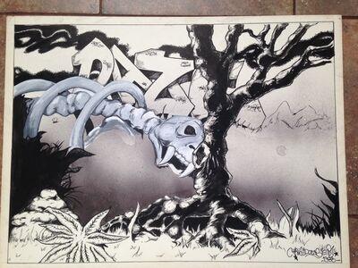 Chris DAZE Ellis, 'Daze (dinosaur bones)', 1983