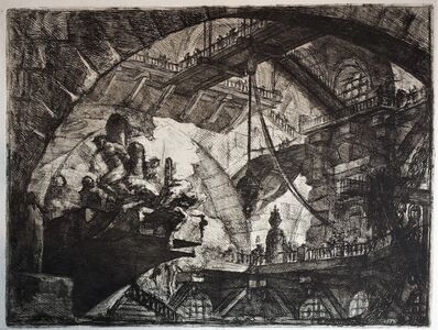 Giovanni Battista Piranesi, 'Prisoners on a projecting platform', 1749-1761