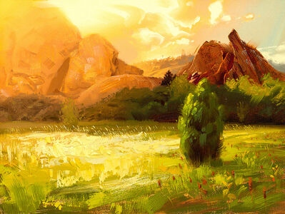 Rob Rey, 'Sunset on the Rocks', 2020