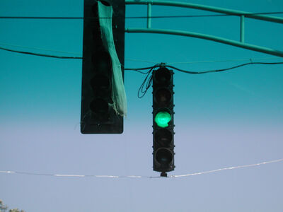 Suzette Bross, 'Commute #18 (green light)', 2003