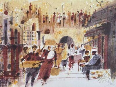 Shmuel Katz, 'Jerusalem Street Scene', 20th Century