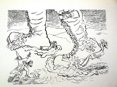 George Grosz, '1936 Lithograph War Boots small edition', 1936
