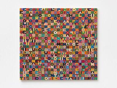 Alighiero Boetti, 'Oggi il quinto giorno dell'ottavo mese dell'anno millenovecentoottantotto', 1988