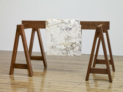 Analía Saban, 'Draped Marble (Fior di Pesco Apuano)', 2015