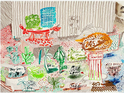 David Hockney, 'Ink Test 19th to 21st March', 2019