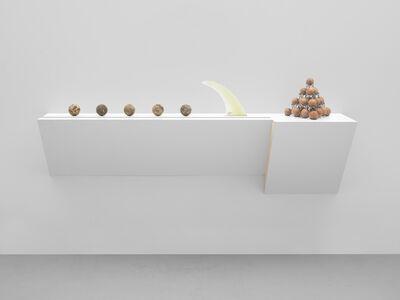 Haim Steinbach, 'Untitled (balls, fin, balls)', 2017