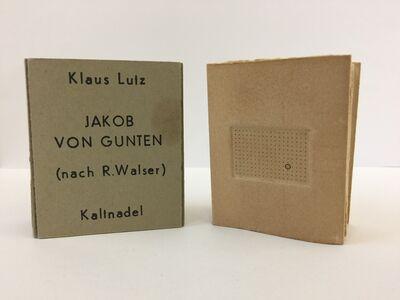 Klaus Lutz, 'Jakob von Gunten Vorspiel Nr.1', 1976