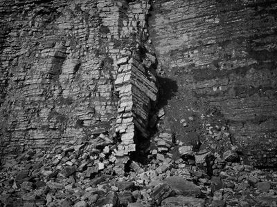 Jon Wyatt, 'Landslide, Llantwit Major, South Wales (From the series The Sixth Extinction)', 2013