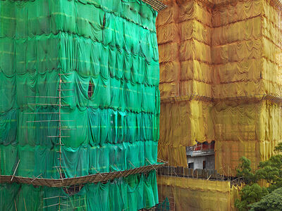 Peter Steinhauer, 'Greeen - Orange Cocoon, Hong Kong - 2013', 2013