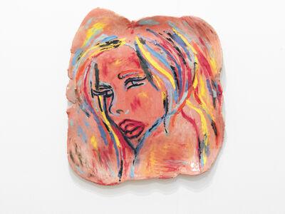 Ghada Amer, 'Girl in a Red Landscape', 2014