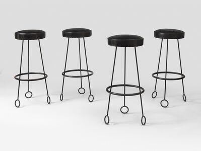Jean Royère, 'Set of 4 Yo-yo bar-stools', 1955