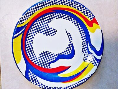 Roy Lichtenstein, 'Screenprinted Paper Plate', 2013