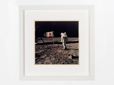 Neil Armstrong, 'Aldrin standing next to the flag', 1969