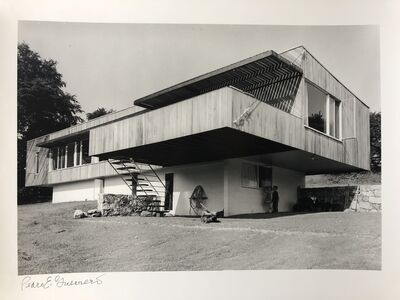 Pedro E. Guerrero, 'Marcel Breuer House, View From Below, New Canaan, CT (Marcel Breuer, Architect)', 1949