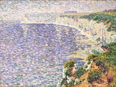 Claude Emile Schuffenecker, 'A View of the Cliffs at Etretat', 1888