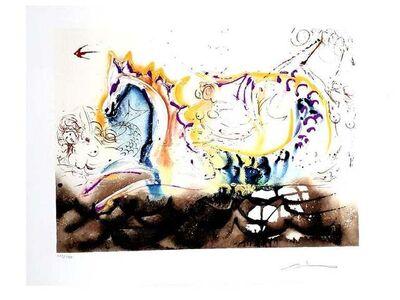 Salvador Dalí, 'Salvador Dali - Sea Horse - Original Handsigned Lithograph', 1972