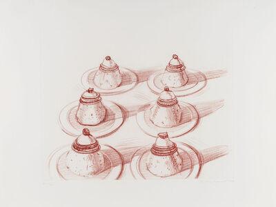 Wayne Thiebaud, 'Six Italian Desserts, from Recent Etchings II', 1979