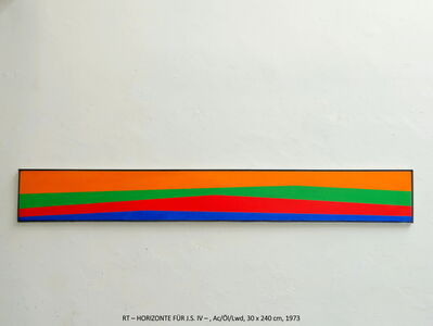 Rainer Tappeser, 'HORIZONTE FÜR J.S. IV', 1973