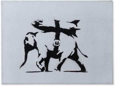 Banksy, 'Heavy Weaponry - Canvas ', 2004