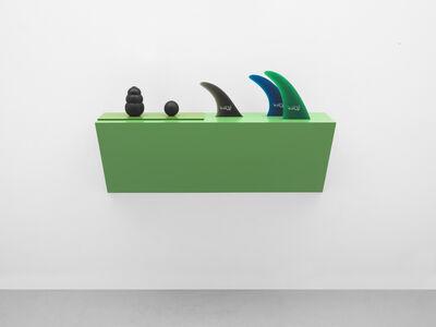 Haim Steinbach, 'Untitled (dog chew, ball, fins)', 2017