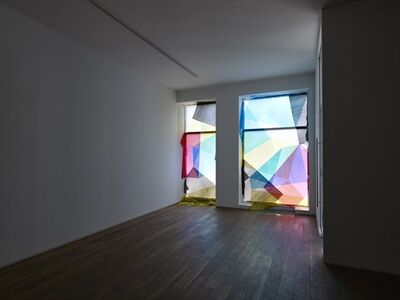 Tommy Grace, ''Cross Double Cross', Installation view of the group exhibition 'Gravity's Rainbow' Ingleby Gallery, Edinburgh (May - June 2011)', 2011
