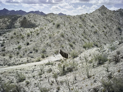 Mark Klett, 'Fence Separating the US/Mexico Border South of the Gila Mountains, May 2015', 2015