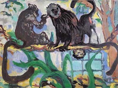 Kate McCrickard, 'Monkeys (Jardin des Plantes)', 2020