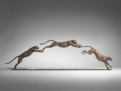 Mark Coreth, 'Three leaping Leopards', 2019