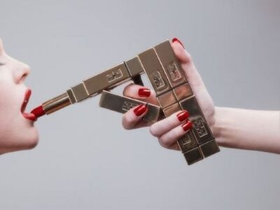 Tyler Shields, 'YSL Lipstick Gun', ca. 2015