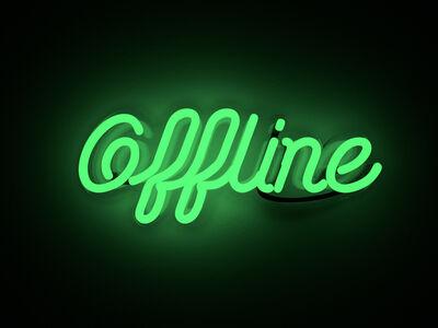 Mary Jo McGonagle, 'Offline - neon art work', 2020