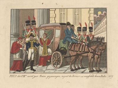 Muthenthaller, 'Arrestation de Pie VII dans la nuit du 5 au 6 juillet 1809 (Arresting of Pius VII on the night of 5-6 July 1809)', after May 1814