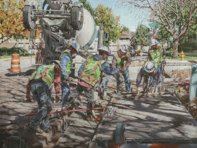 Dianne L. Massey Dunbar, 'Eight Men Working', 2014