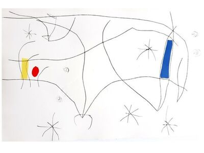 Joan Miró, 'Joan Miro - L'Issue Dérobée II- Original Aquatint ', 1974
