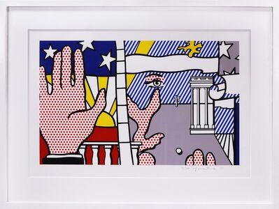 Roy Lichtenstein, 'Roy Lichtenstein, Inaugural Print, screenprint in colours, signed, 1977', 1977