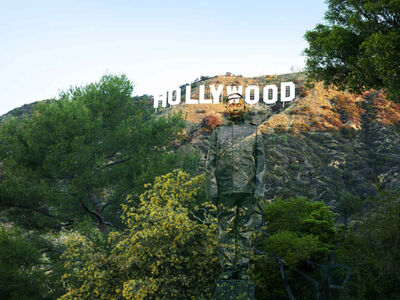 Liu Bolin, 'Hiding in California No. 2 — Hollywood', 2013