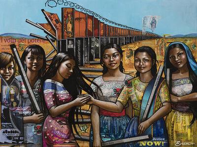 Erin Currier, 'American Women (Dismantling the Border) VI (After Raphael)', 2019