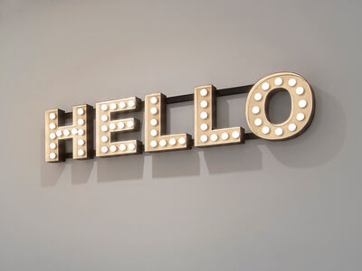 Peter Liversidge, 'Hello', 2012