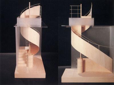 Hariri & Hariri Architecture, 'MOBIUS STRIP HYBRID STAIR', 1988