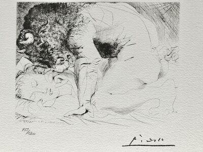 Pablo Picasso, 'Minotaure caressant une dormeuse (Suite Vollard Planche XCIII)', 1973